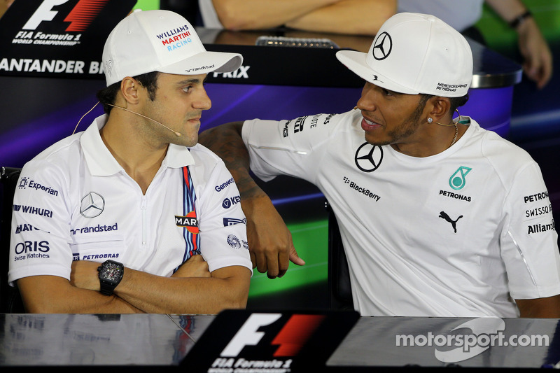 FIA-Pressekonferenz: Felipe Massa, Williams F1 Team; Lewis Hamilton, Mercedes AMG F1 Team