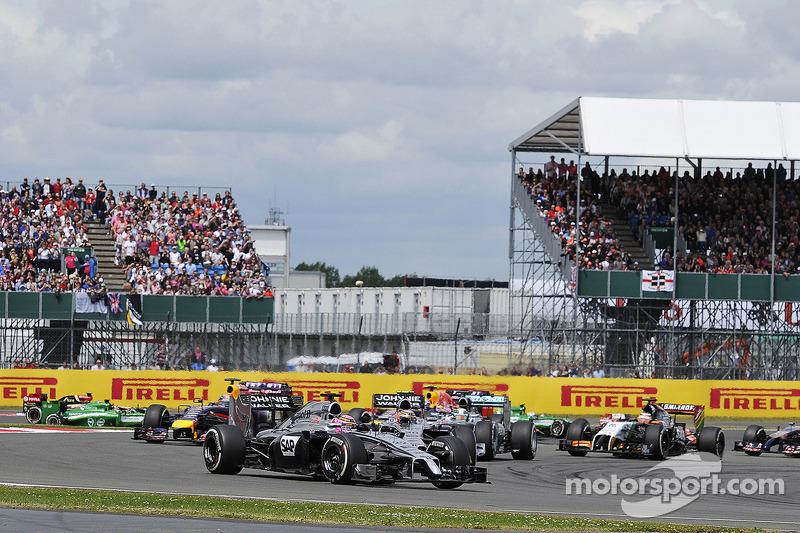 Jenson Button, McLaren MP4-29 alla partenza della gara