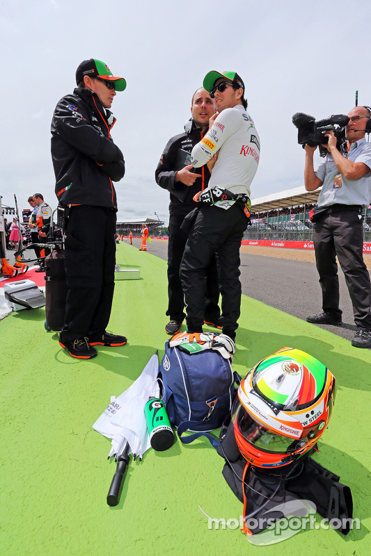 Sergio Perez, Sahara Force India F1 no grid