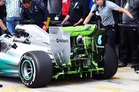 尼克·罗斯伯格, 梅赛德斯AMG F1 W05赛车,尾翼和后扩散器上使用监测涂料