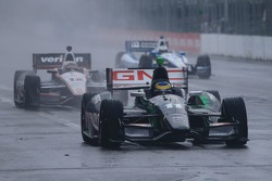 Sébastien Bourdais, KVSH Racing Chevrolet sous la pluie