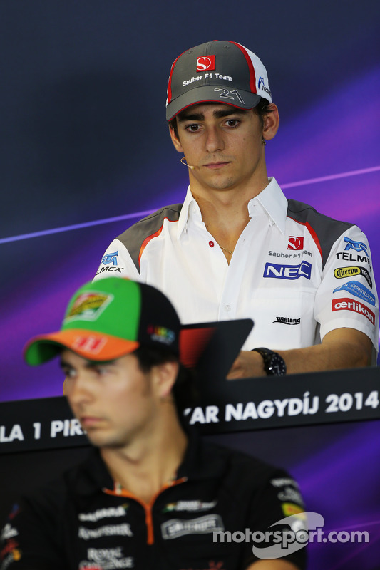 Esteban Gutierrez, Sauber and Sergio Perez, Sahara Force India F1 in the FIA Press Conference