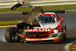 Sorun yaşayan; #85 HTP Motorsport Mercedes SLS AMG GT3: Lucas Wolf, Sergei Afanasiev, Stef Dusseldorp
