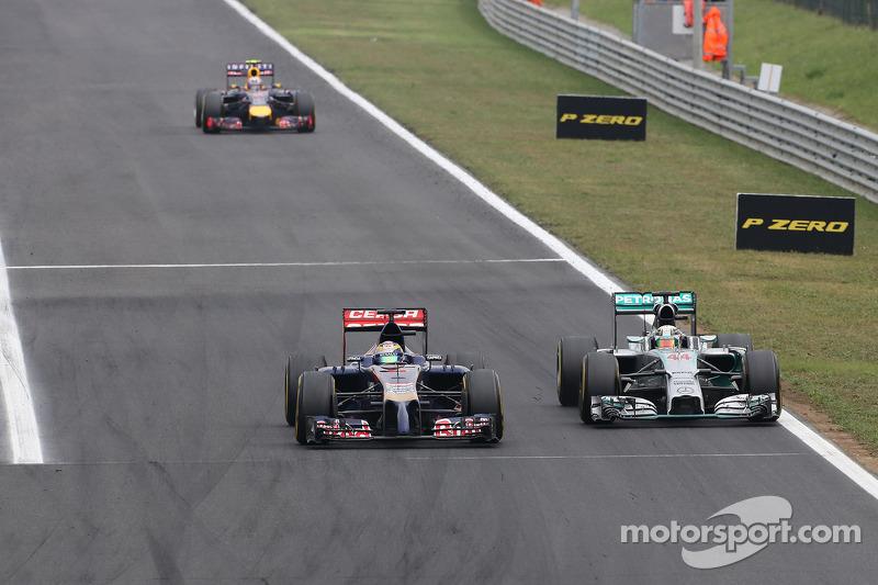 Jean-Eric Vergne, Scuderia Toro Rosso e Lewis Hamilton, Mercedes AMG F1 Team