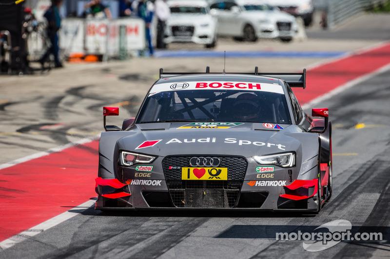 Drive-through for Edoardo Mortara, Audi Sport Team Abt Audi RS 5 DTM