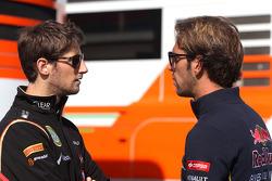 Romain Grosjean, Lotus F1 Team; Jean-Eric Vergne, Scuderia Toro Rosso