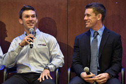 Daniel Suarez and Carl Edwards
