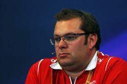 FIA-Pressekonferenz: Dave Greenwood, Renningenieur Marussia F1 Team