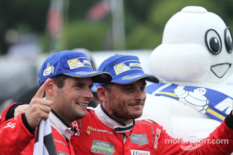 Vincitori GTLM # 62 Risi Competizione Ferrari F458: Giancarlo Fisichella, Pierre Kaffer