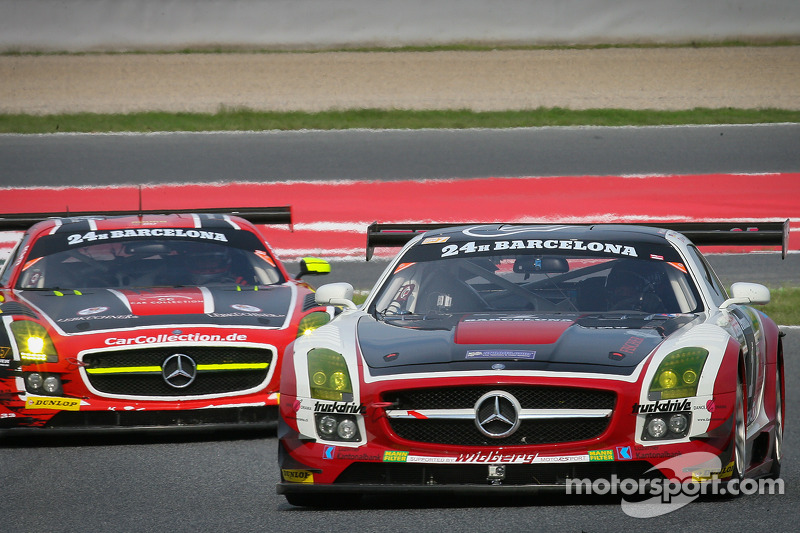 #1 Hofor Racing Mercedes SLS AMG GT3: Michael Kroll, Roland Eggimann, Kenneth Heyer, Christiaan Frankenhout, Chantal Kroll