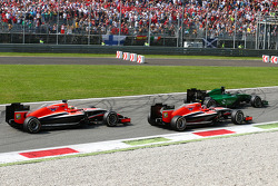 Kamui Kobayashi, Caterham CT05; Max Chilton, Marussia F1 Team MR03; Jules Bianchi, Marussia F1 Team MR03