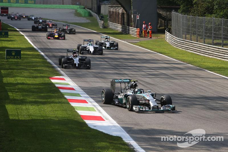 Partenza della gara, Nico Rosberg, Mercedes AMG F1 Team