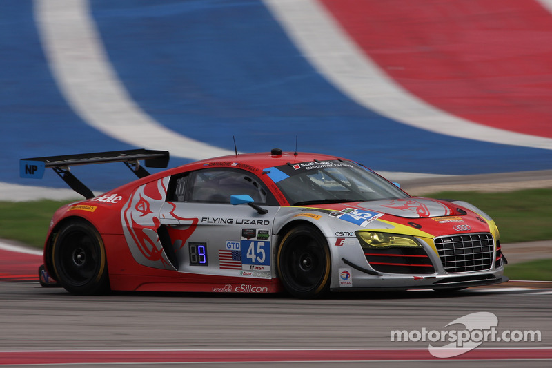 #45 Flying Lizard Motorsports Audi R8 LMS: Nelson Canache, Spencer Pumpelly at Austin