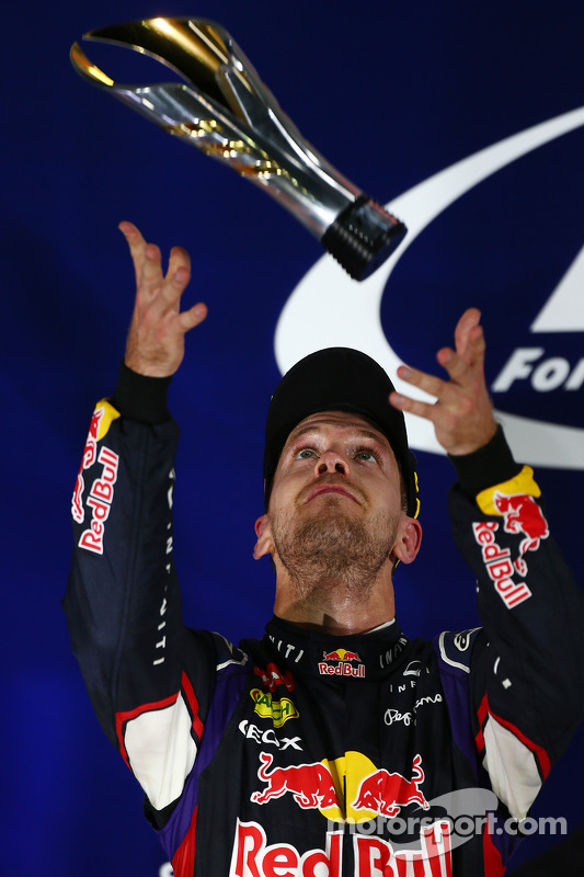 segundo colocado Sebastian Vettel, Red Bull Racing RB10