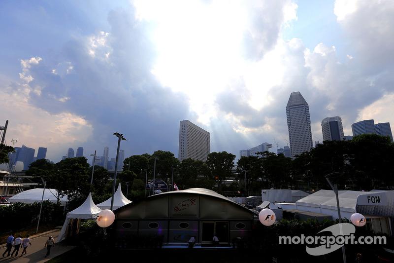 Fahrerlager in Singapur