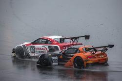 #80 Nissan GT Academy Team RJN Nissan GT-R Nismo GT3: Nick McMillen, Florian Strauss, Alex Buncombe and #888 Triple 888 Racing BMW Z4: Jody Firth, Warren Hughes, Alexander Sims