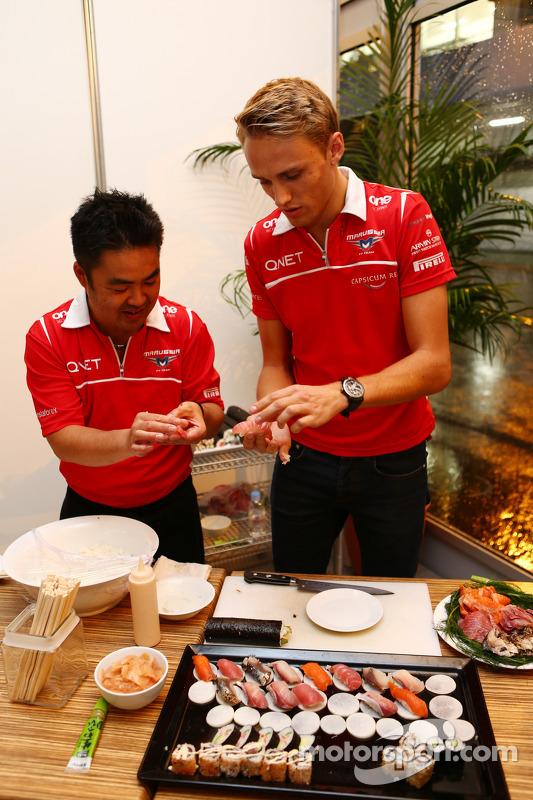 Max Chilton, Marussia F1 Team, na Marussia F1 Team Sushi Happy Hour