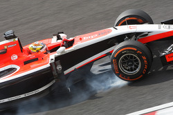 Jules Bianchi, Marussia F1 Team MR03 si blocca in frenata