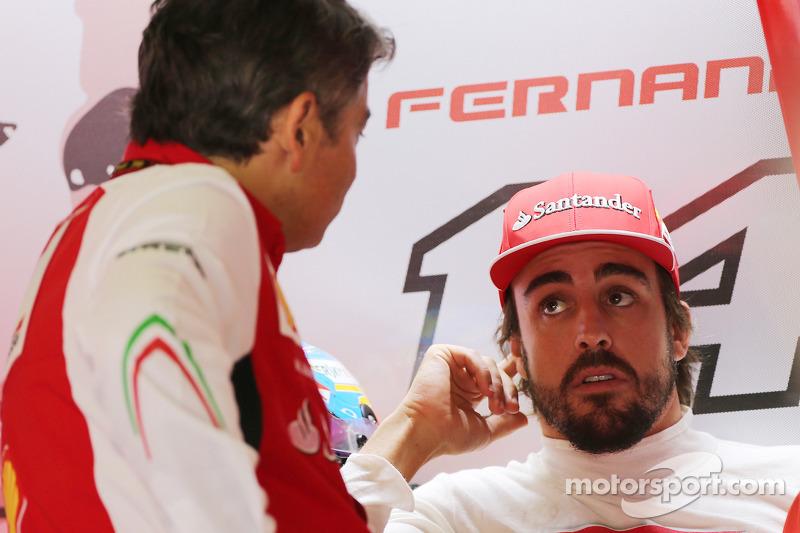 (L to R): Marco Mattiacci, Ferrari Team Principal with Fernando Alonso, Ferrari