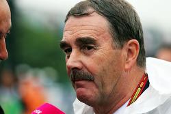 Nigel Mansell sur la grille