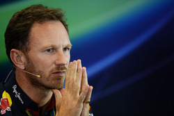 Christian Horner, Red Bull Racing Team Principal alla conferenza stampa FIA