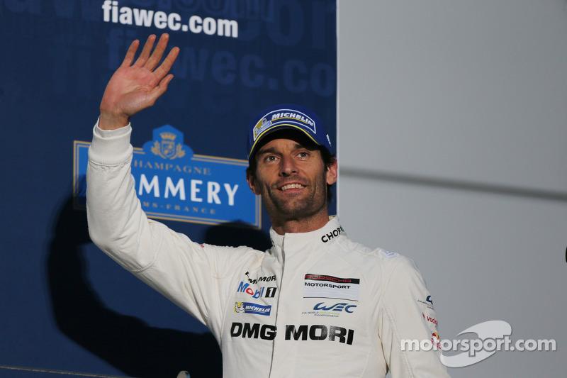 Third place Mark Webber