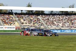 Edoardo Mortara, Audi Sport Team Abt Audi RS 5 DTM and Joey Hand, BMW Team RBM BMW M4 DTM