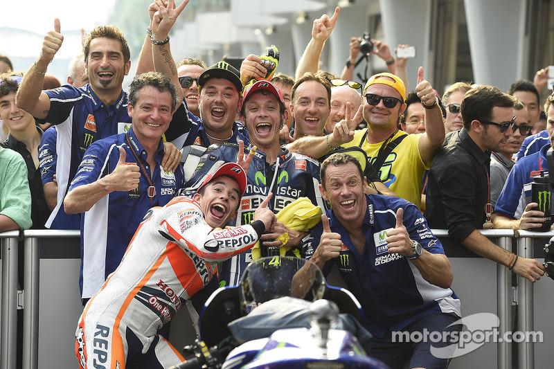 Valentino Rossi, Yamaha e Marc Marquez, Repsol Honda Team