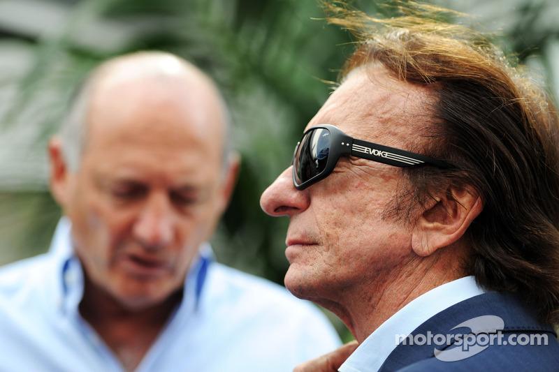 Emerson Fittipaldi e Ron Dennis, Presidente Esecutivo McLaren