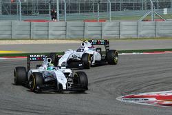 Felipe Massa, Williams FW36; Valtteri Bottas, Williams FW36