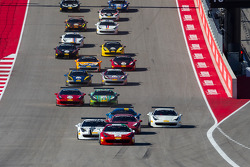 Largada: #2 Ferrari of Houston Ferrari 458: Ricardo Perez lidera