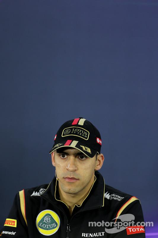 Pastor Maldonado, Lotus F1 Team, durante a conferência de imprensa da FIA