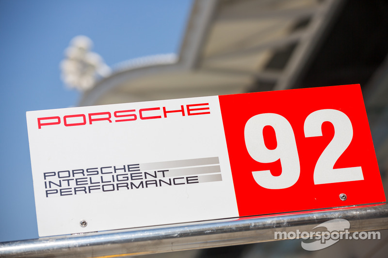 #92 Porsche Team pit sign