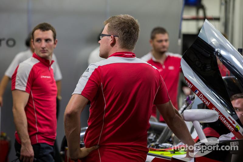 #1 奥迪运动部 Joest 奥迪 R18 E-Tron Quattro 无法参与排位赛