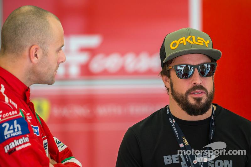 Gianmaria Bruni ve Fernando Alonso