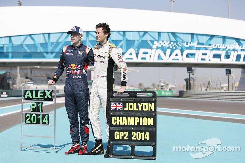 GP3 şampiyonu Alex Lynn, Carlin ve GP2 şampiyonu Jolyon Palmer, DAMS
