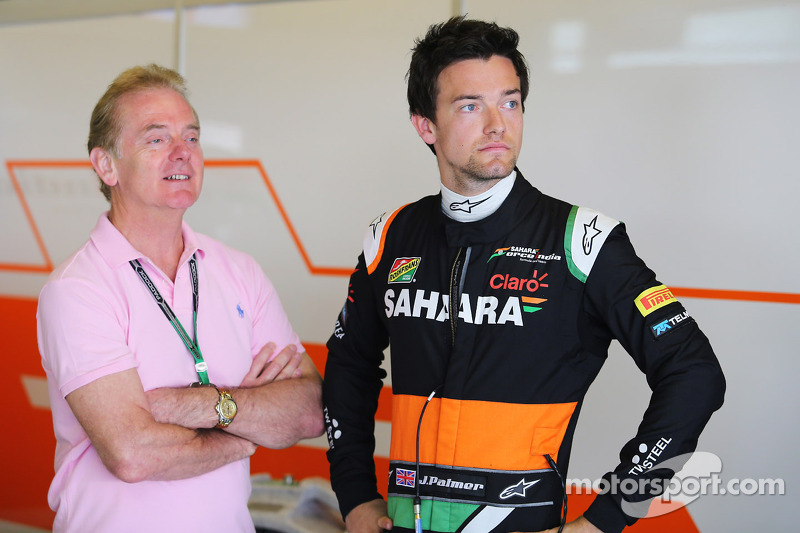 Jolyon Palmer, Sahara Force India F1 Team Test Driver with his father Jonathan Palmer