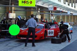 #89 Villorba Corse Ferrari 458 GT3: Cedric Mezard, Christophe Hurni, Didier Cuche
