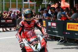 Chaz Davies, Aruba.it Racing-Ducati SBK Team parc ferme
