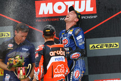 Michael van der Mark, Pata Yamaha, Alex Lowes, Pata Yamaha, Chaz Davies, Aruba.it Racing-Ducati SBK Team