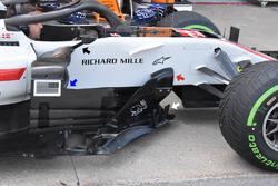 Plancher et dérives de la Haas F1 Team VF-18
