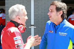 Davide Tardozzi, Team manager Ducati Team, Davide Brivio, Team manager Team Suzuki MotoGP