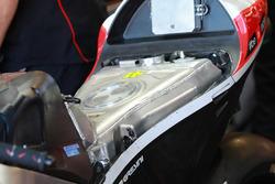 Le réservoir de la moto d'Aleix Espargaro, Aprilia Racing Team Gresini