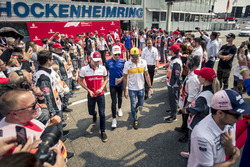 Charles Leclerc, Sauber F1 Team, Pierre Gasly, Scuderia Toro Rosso and Carlos Sainz Jr., Renault Sport F1 Team