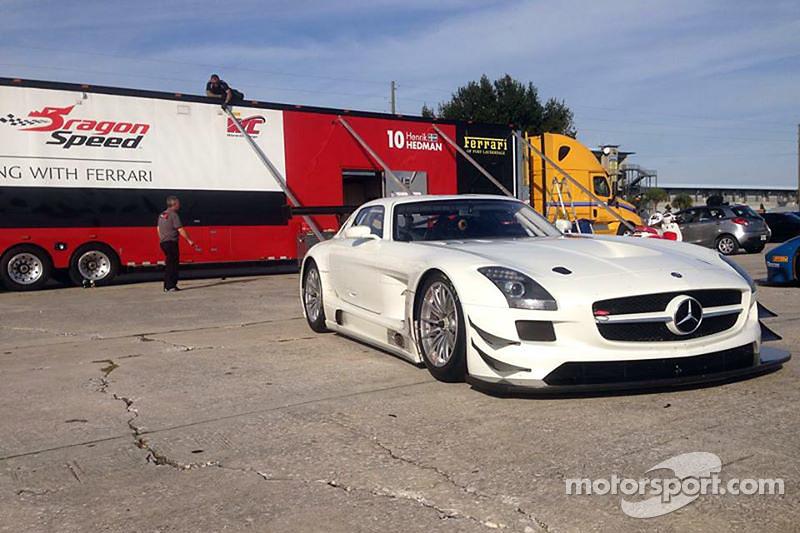 La nuova GT5 DragonSpeed Mercedes SLS AMG