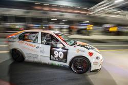 #90 Car Point S Racing Schmieglitz, SEAT Leon Supercopa: Daniel Schmieglitz, Cyndie Allemann, Heino Bo Frederiksen, Axel Wiegner, Heinz Jürgen Kroner