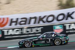 #2 黑鹰梅赛德斯SLS AMG GT3: Abdulaziz Al Faisal, Hubert Haupt, Yelmer Buurman, Oliver Webb