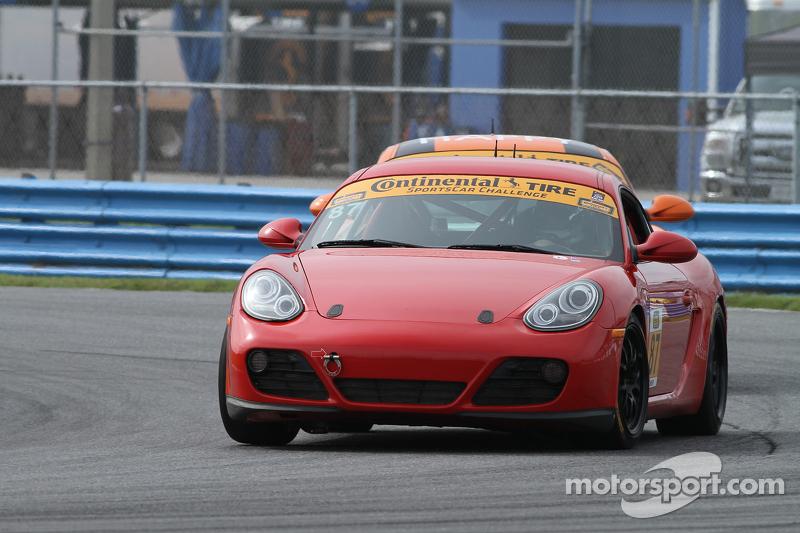 #87 Rebel Rock Racing Porsche Cayman: Ramin Abdolvahabi, James Vance