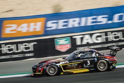 #3 Abu Dhabi Racing Black Falcon, Mercedes SLS AMG GT3: Khaled Al Qubaisi, Jeroen Bleekemolen, Bernd Schneider, Andreas Simonsen