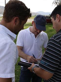 Planejamento da pista com Jacques Villeneuve